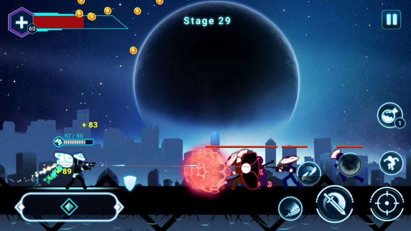 Hack game Stickman Ghost 2: Star Wars cho Android không cần root (4)